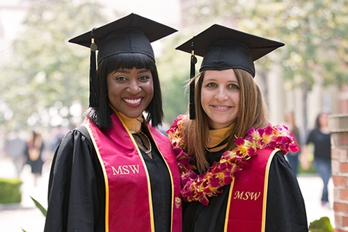 Two female MSW graduates