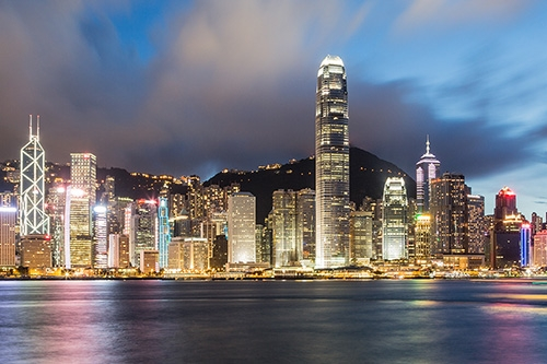 China - Hong Kong skyline