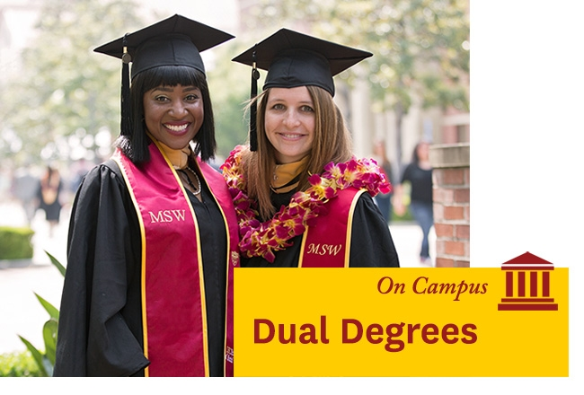 Two USC students - Learn about our Dual Degree program