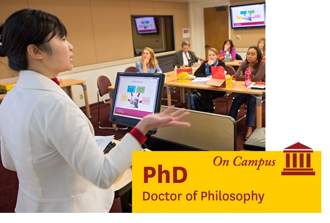 USC teacher in classroom -  - Learn about our on campus PhD program