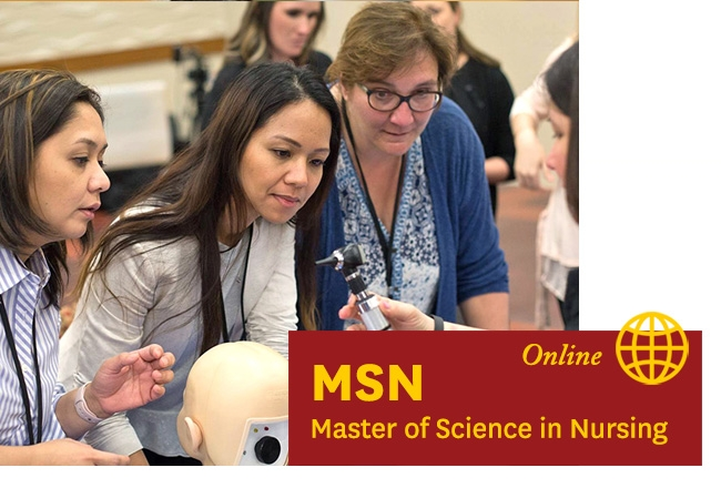 USC Nursing students - Two USC students - Learn about our Online MSN Nursing program