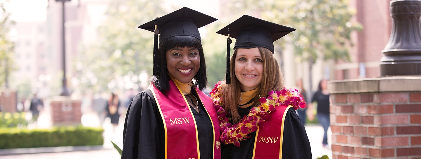 two USC MSW graduates