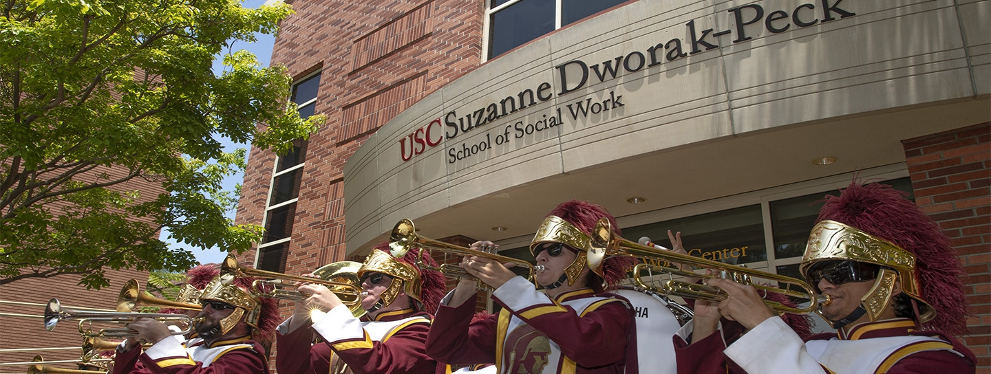 USC Band performs at the school
